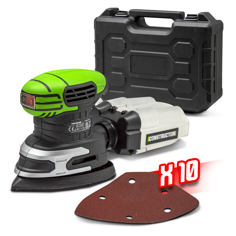 Ponceuse triangulaire 220W + coffret - Constructor