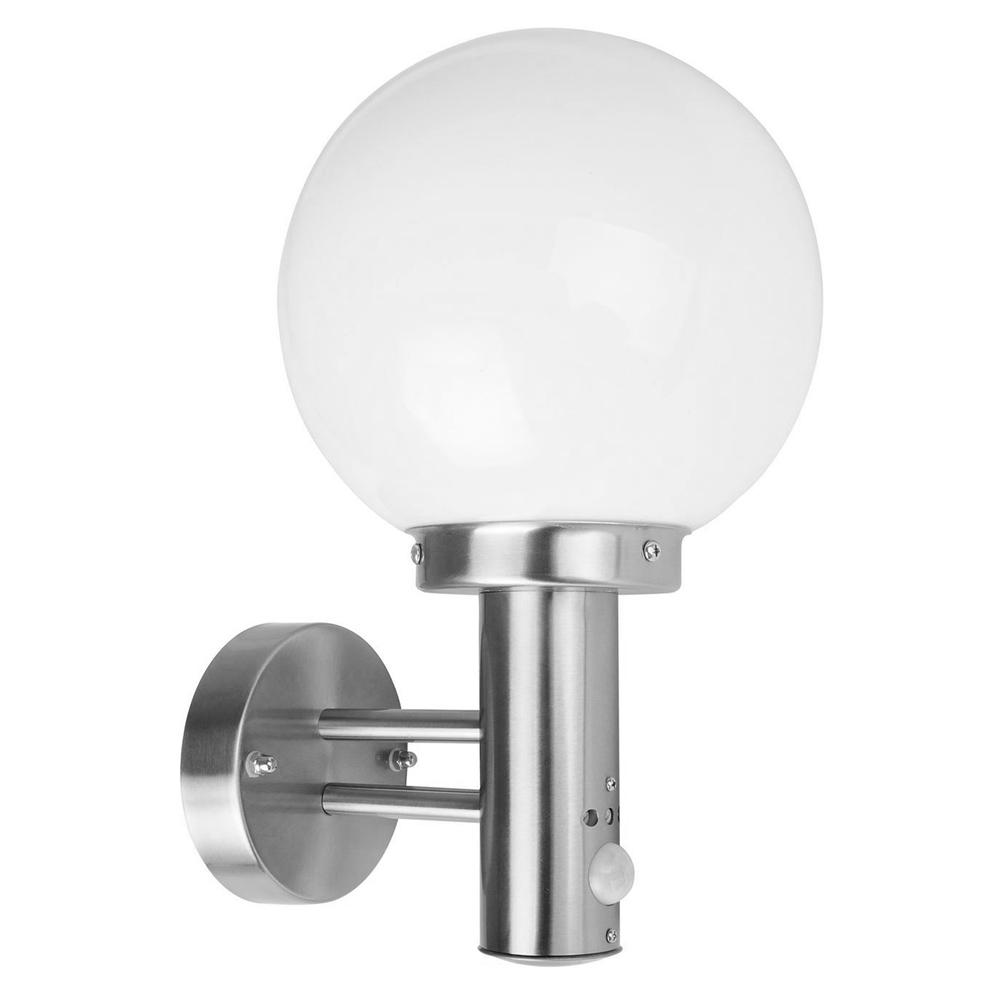 Applique boule Inox 60W avec détecteur