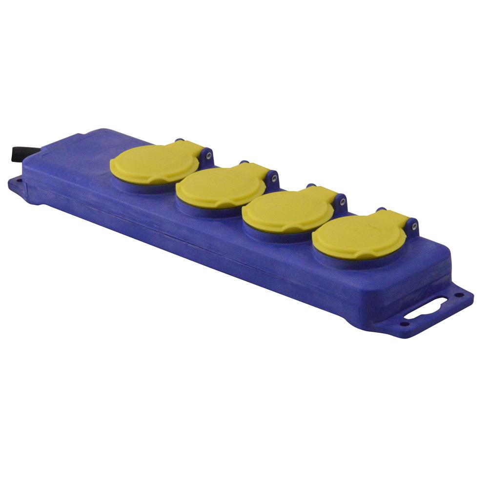 Bloc 4 prises étanche - 3x1.5mm² - I-Watts