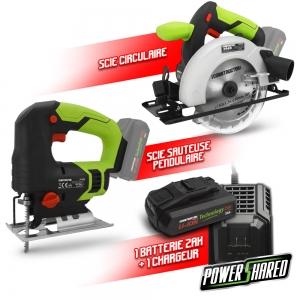 Kit 2 machines sans fil 20V + 1 bat 2Ah - Construc